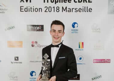 CDRE France 2018 Trophy won by François, an Institut Paul Bocuse student