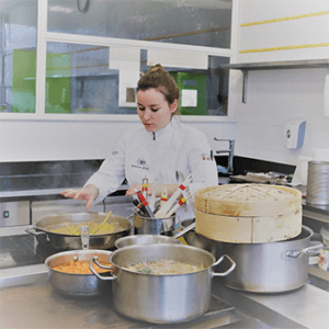 Student on the Bachelor degrees in Culinary Arts Management