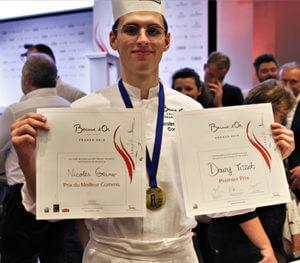 Nicolas Gruner elected best commis chef Bocuse d'Or France